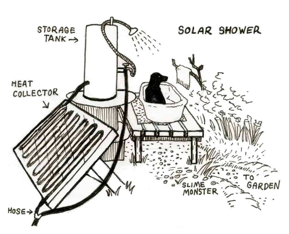 how to build a solar shower