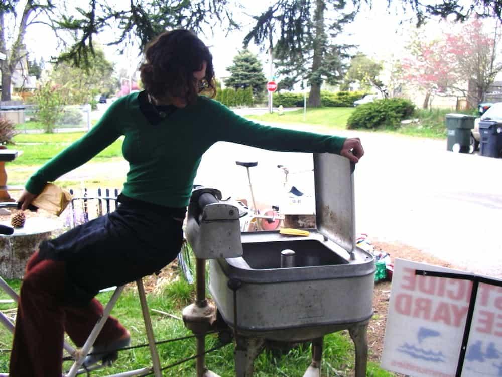 bicycle powered washing machine