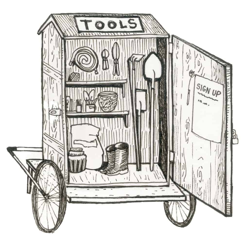 mobile bicycle powered tool library