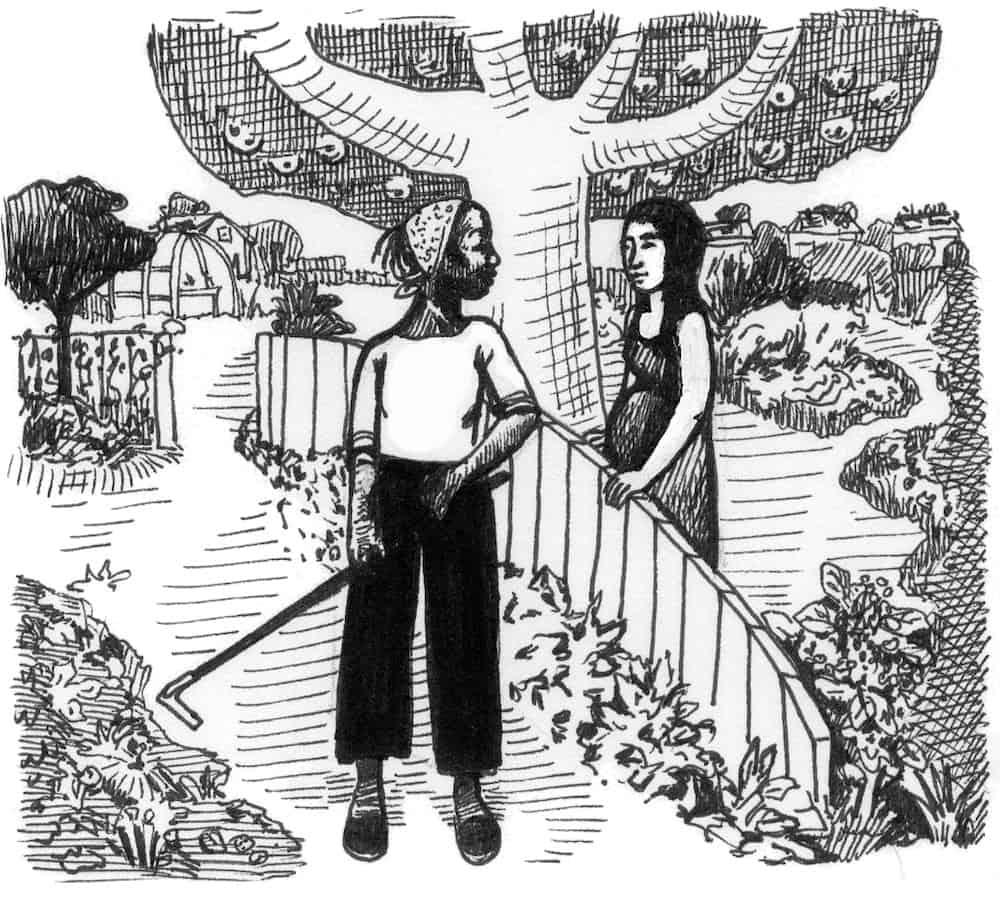 gardening with neighbors